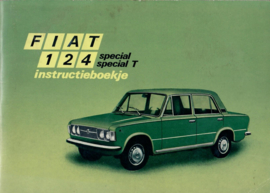 Fiat 124  Instructieboekje 71 #1 Nederlands