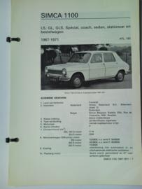 Simca 1100  Vraagbaak ATH 67-71 #1 Nederlands