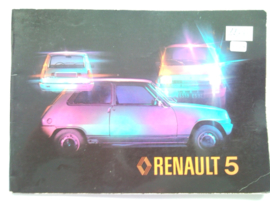Renault 5  Instructieboekje 77 #1 Nederlands