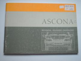 Opel Ascona C  Instructieboekje 87 #2 Nederlands