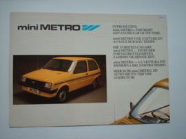 Austin Metro  Brochure 86 #4 Nederland Frans Engels Duits