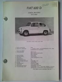 Fiat 600D  Vraagbaak ATH 63-67 #3 Nederlands