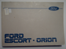 Ford Escort Orion  Instructieboekje 85 #3 Nederlands