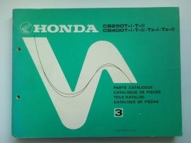 Honda CB250T CB400T  Onderdelenboek 80 #1 Engels Frans Duits Spaans