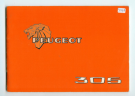 Peugeot 305  Instructieboekje 78 #2 Nederlands Duits Frans Italiaans
