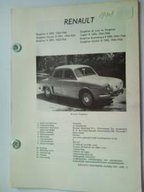 Renault Dauphine Ondine Gordini  Vraagbaak ATH 63-66 #3 Nederlands