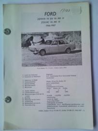 Ford Zephyr V4 en V6 Zodiac V6  Vraagbaak ATH 66-67 #3 Nederlands