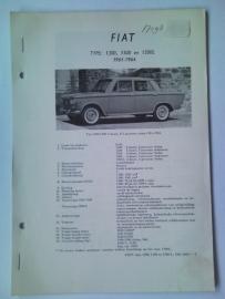 Fiat 1300 1500 1500 L  Vraagbaak ATH 61-64 #1 Nederlands