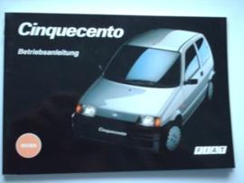 Fiat Cinquecento  Instructieboekje 94 #2 Duits