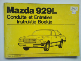 Mazda 929  Instructieboekje 79 #1 Nederlands Frans