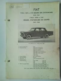 Fiat 1800 2100 2300  Vraagbaak ATH 61-64 #2 Nederlands