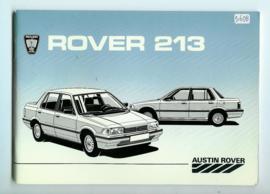 Rover 213  Instructieboekje 85 #1 Nederlands