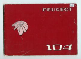 Peugeot 104  Instructieboekje 76 #1 Nederlands Duits Frans Italiaans