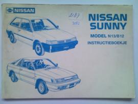 Nissan Sunny N13 B12 Instructieboekje 87 #1 Nederlands