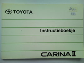 Toyota Carina II  Instructieboekje 90 #1 Nederlands