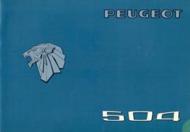 Peugeot 504  Instructieboekje 76 #1 Engels Frans Spaans Zweeds