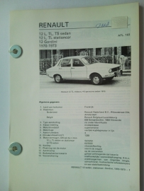 Renault 12  Vraagbaak ATH 70-73 #1 Nederlands