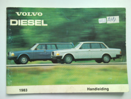 Volvo 240 Diesel  Instructieboekje 83 #1 Nederlands
