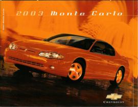Chevrolet Monte Carlo  Brochure .03 #1 Engels
