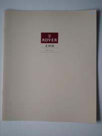 Rover 200  Brochure 90 #2 Nederlands