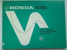 Honda CB750  Onderdelenboek 80 #1 Engels Frans Duits