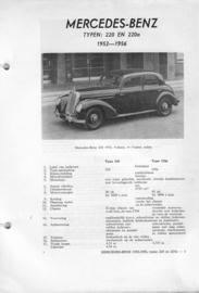 Mercedes-Benz 220 en 220a  Vraagbaak ATH 52-56 #1 Nederlands