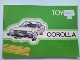 Toyota Corolla  Instructieboekje 82 #2 Nederlands