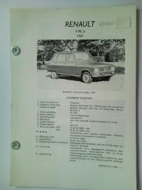 Renault 6  Vraagbaak ATH 69 #1 Nederlands