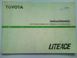 Toyota Lite Ace  Instructieboekje 86 #1 Nederlands