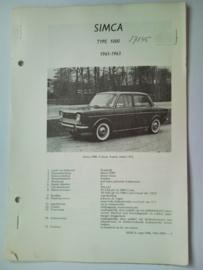 Simca 1000  Vraagbaak ATH 61-63 #2 Nederlands
