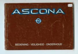Opel Ascona C  Instructieboekje 83 #3 Nederlands