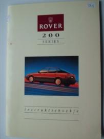 Rover 200  Instructieboekje 89 #1 Nederlands