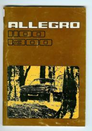 Austin Allegro 1100 1300 GT Instructieboekje 77 #1 Nederlands