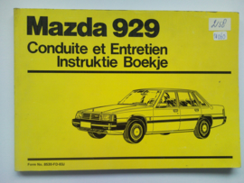 Mazda 929  Instructieboekje 83 #1 Nederlands Frans