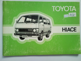 Toyota Hiace  Instructieboekje 83 #3 Nederlands