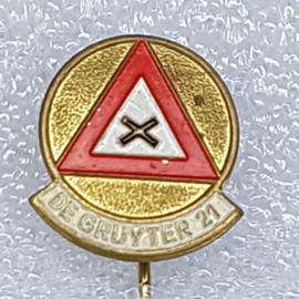 SP0571 Speldje De Gruyter 22 Verkeersbord