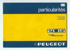 Peugeot 205  Instructieboekje 83 #1 Nederlands Duits Frans Italiaans