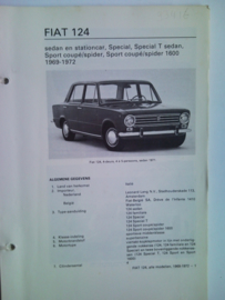 Fiat 124  Vraagbaak ATH 69-72 #1 Nederlands