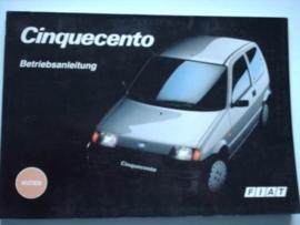 Fiat Cinquecento  Instructieboekje 92 #2 Duits