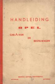 Opel Olympia Caravan en Bestelwagen Instructieboekje 59 #1 Nederlands