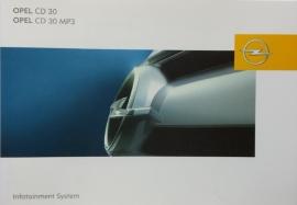 Opel Infotainmentsystem CD 30 MP3  Instructieboekje 2007 -01 #1 Duits, Engels, Frans, Spaans, Italiaans.