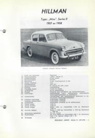 Hillman Minx  Vraagbaak ATH 57-58 #2 Nederlands