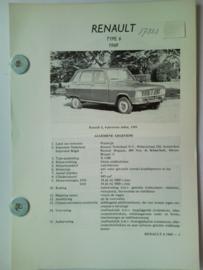Renault 6  Vraagbaak ATH 69 #2 Nederlands