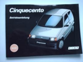Fiat Cinquecento  Instructieboekje 93 #2 Duits