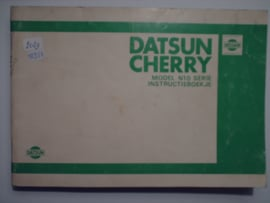 Datsun Cherry Model N10 Instructieboekje 79 #1 Nederlands