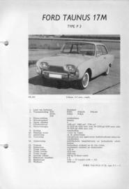 Ford Taunus  Vraagbaak ATH 61-62 #1 Nederlands