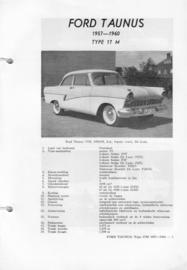 Ford Taunus  Vraagbaak ATH 57-60 #2 Nederlands