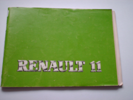 Renault 11  Instructieboekje 87 #1 Nederlands