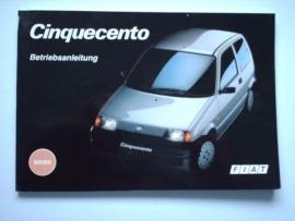 Fiat Cinquecento  Instructieboekje 93 #1 Duits