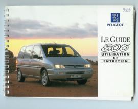 Peugeot 806  Instructieboekje 94 #1 Frans
